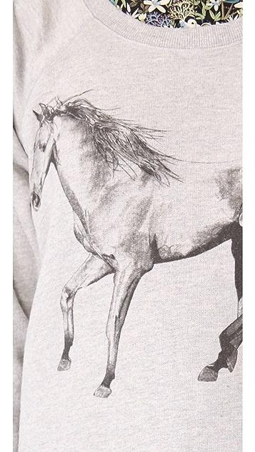 Tess Giberson Animal Print Sweatshirt