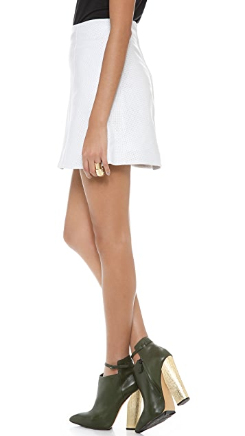 Tess Giberson Perforated Leather Skirt