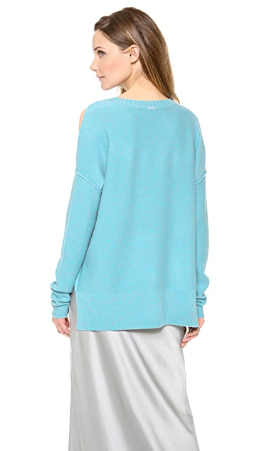 Tess Giberson Slouchy Split Hem Sweater