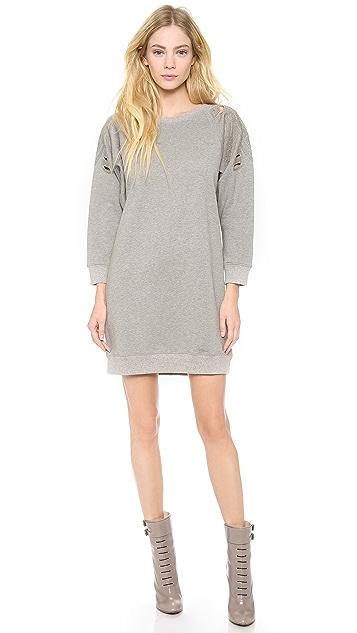 Tess Giberson Embroidered Sweatshirt Dress