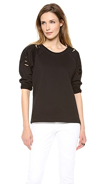 Tess Giberson Sweatshirt Top with Embroiderey