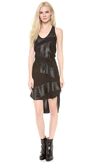 Tess Giberson Jacquard Dress with Ties