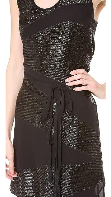 Tess Giberson Jacquard Dress with Ties