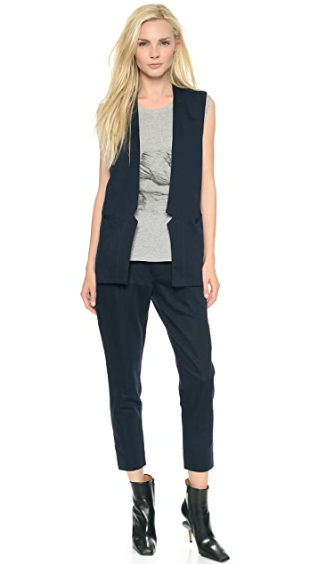 Tess Giberson Cropped Lapel Trousers