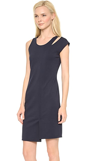 Tess Giberson Split Neck Ponte Dress