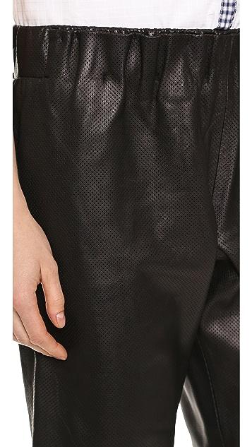 Tess Giberson Leather Sweat Shorts