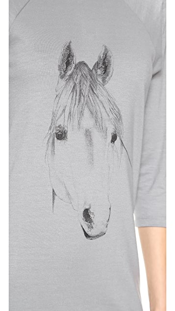 Tess Giberson Horse Printed T-Shirt Dress