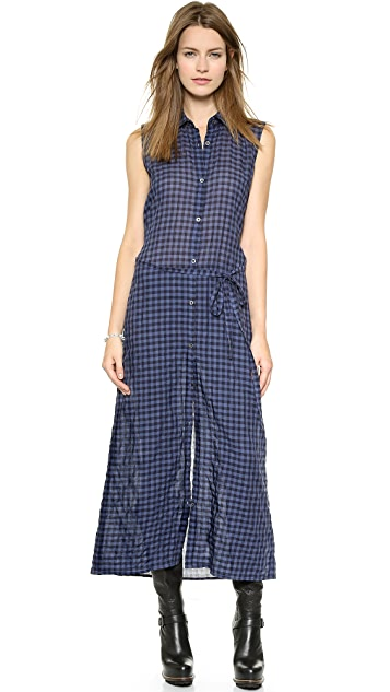 Tess Giberson Elongated Sleeveless Shirtdress