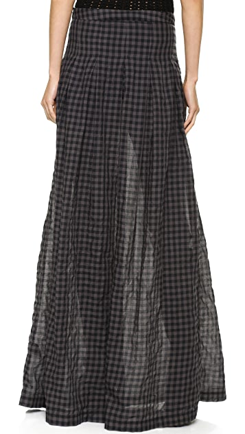 Tess Giberson Long Skirt with Placket