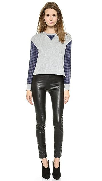 Tess Giberson Spliced Shirt Pullover