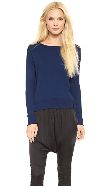 Tess Giberson Slouchy Sweater with Stitching