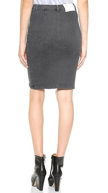 Tess Giberson Pieced Denim Skirt