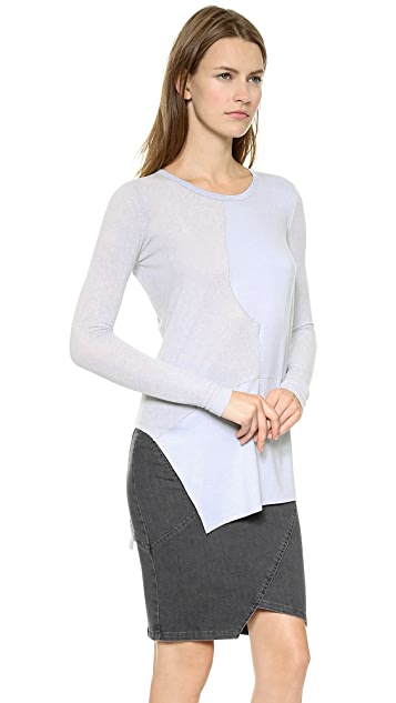 Tess Giberson Pieced Silk Sweater