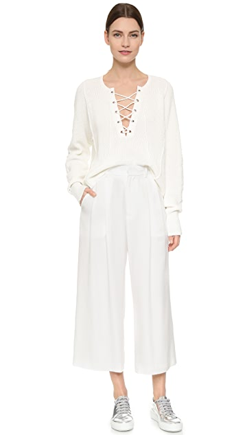 Tess Giberson Cropped Wide Leg Trousers