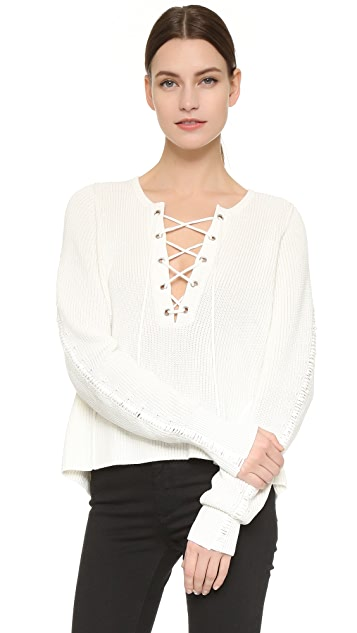 Tess Giberson Lace Up Sweater