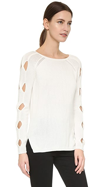 Tess Giberson Cutout Cable Sweater