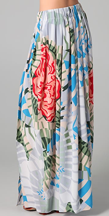 Thakoon Addition Maxi Skirt with Slits