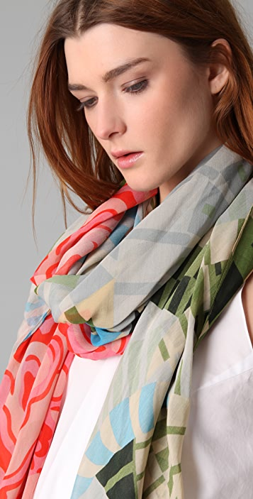 Thakoon Addition Cabbage Rose Scarf