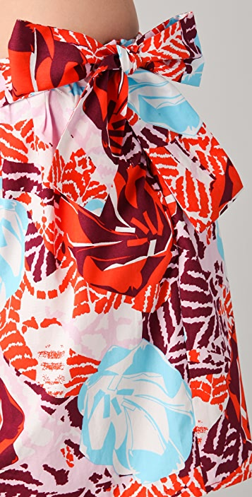 Thakoon Addition Print Sarong Miniskirt