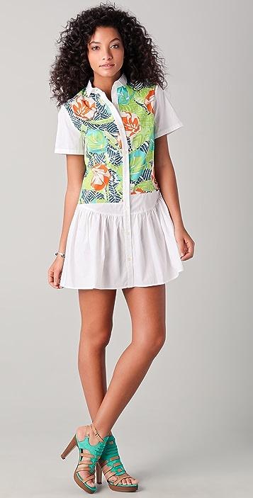 Thakoon Addition Hawaiian Print Shirtdress