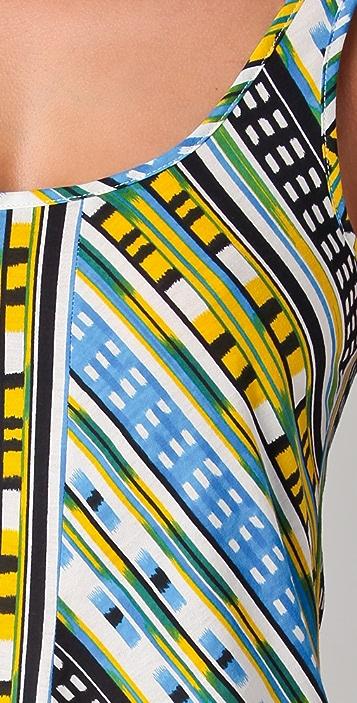 Thakoon Addition Ikat Print Short Tank Dress