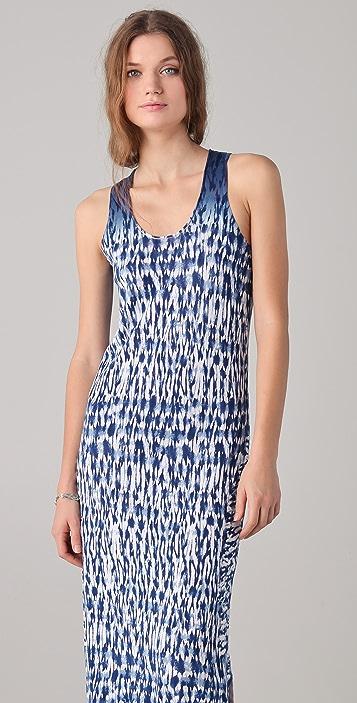 Thakoon Addition Long Tie Dye Knit Tank Dress