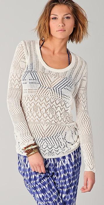 Thakoon Addition Crochet Sweater