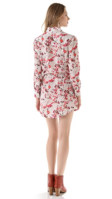 Thakoon Addition Flower Camo Drawstring Shirtdress