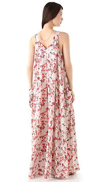 Thakoon Addition Flower Camo Wide Leg Jumpsuit