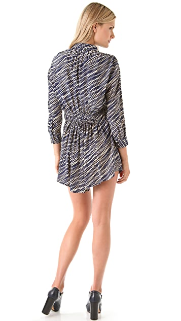 Thakoon Addition Shibori Gathered Waist Dress