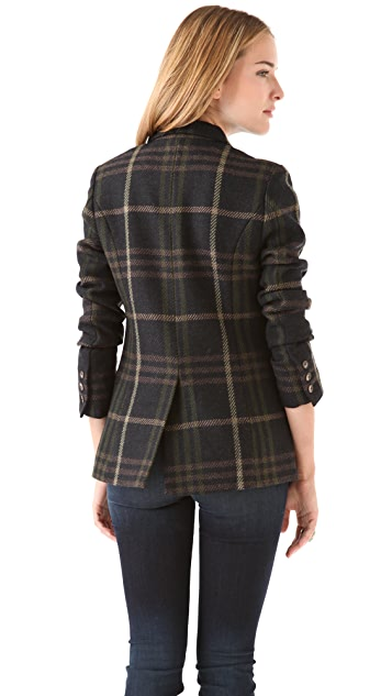Thakoon Addition Double Breasted Plaid Blazer
