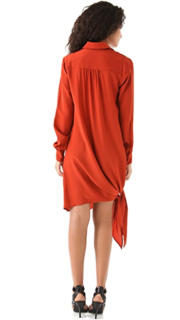Thakoon Addition Side Tie Shirtdress