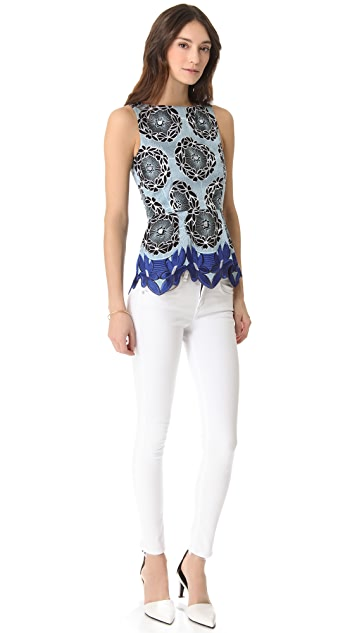 Thakoon Addition African Lace Combo Top