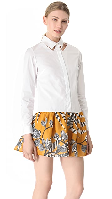 Thakoon Addition Cutout Collar Shirtdress