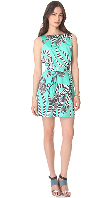 Thakoon Addition Zebra Backless Mini Dress