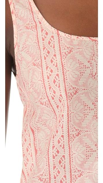 Thakoon Addition Lace Print Ruffle Tank
