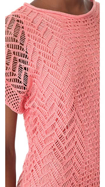 Thakoon Addition Crochet Short Sleeve Dress
