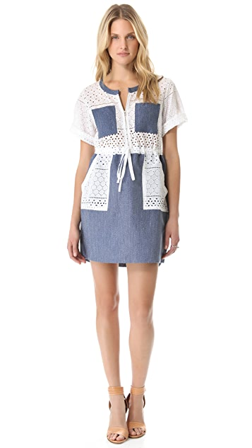 Thakoon Addition Linen Combo Cargo Dress