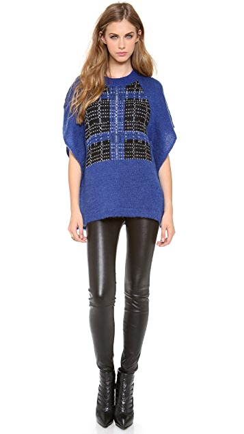 Thakoon Addition Plaid Poncho