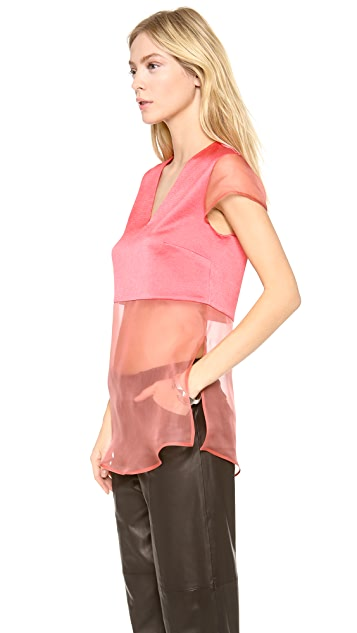 Thakoon Addition Layer Organza Top
