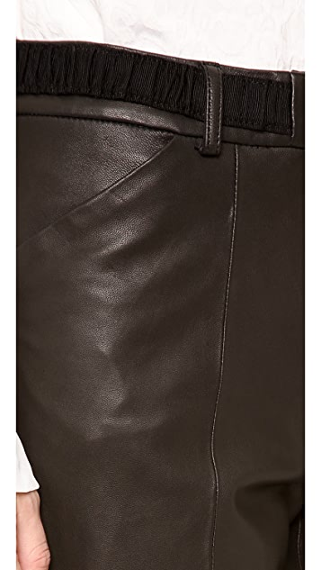 Thakoon Addition Full Leather Pants