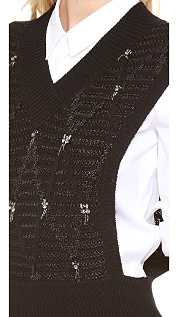 Thakoon Addition Beaded Knit Vest