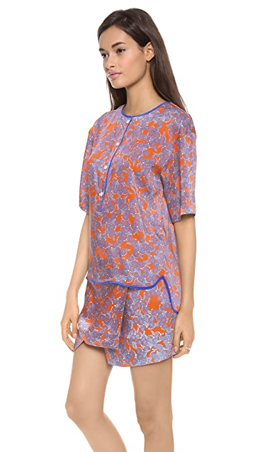 Thakoon Addition Button Front Blouse