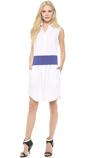 Thakoon Addition Sleeveless Banded Waist Dress