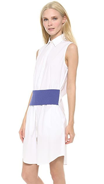 Thakoon Addition Sleeveless Banded Waist Dress