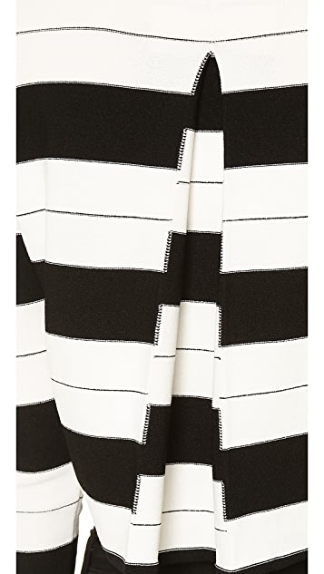 Thakoon Addition Staggered Stripe Pullover