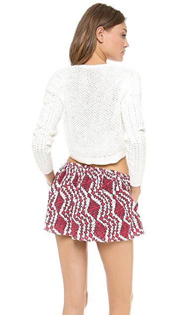 Thakoon Addition Split Neck Cropped Pullover