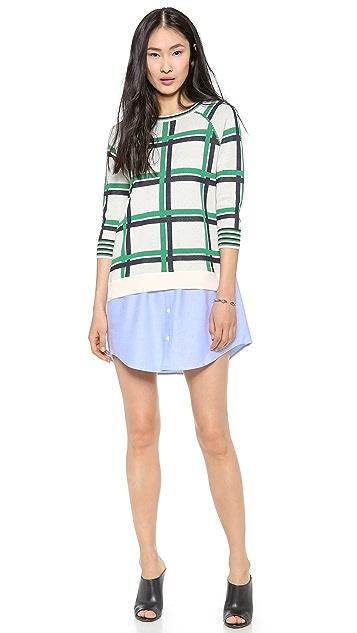 Thakoon Addition Knit Combo Dress