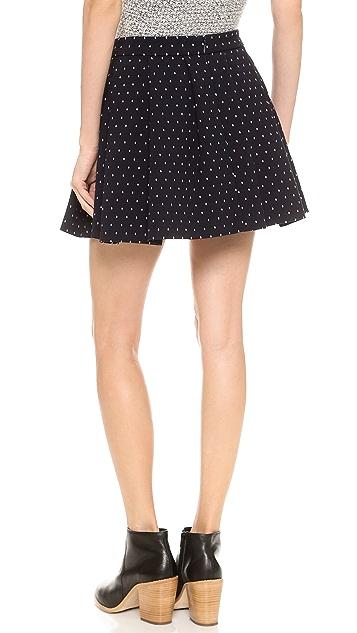 Thakoon Addition Polka Dot Full Skirt