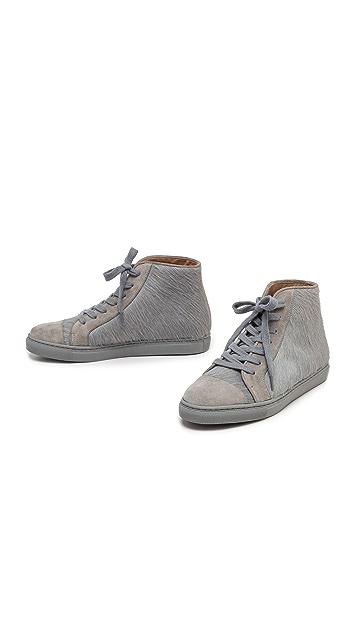 Thakoon Addition High Top Haircalf Sneakers
